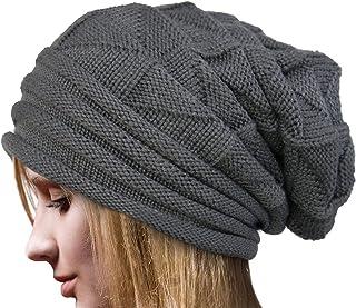 Dealzip Inc Stylish Unisex Brown Snowboard Woven Light Knit Crochet Plicated Ears Baggy Slouch NBA Warm Winter Daily Hat Cap Caps Beret Beanie