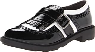 Rocket Dog Horace Black and White Patent Oxford, Womens, Flat