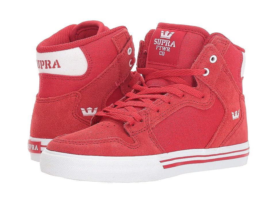 Supra Kids Vaider (Little Kid/Big Kid) (Formula One/White/White) Boys Shoes
