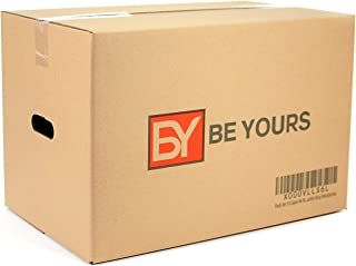 BEYOURS Pack de 10 Cajas Carton Mudanza Grandes con Asas -