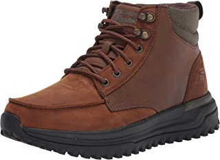 Skechers USA Men's Sole Trek - Bargo Mid Top Leather Lace Up boot mens Fashion