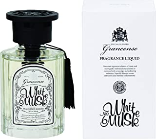 グランセンス フレグランスリキッド(約1~1.5ヶ月) ホワイトムスク 120ml(室内用芳香剤 ルームフレグランス タッセル付 ベルガモットとミントの透明感ある香り)