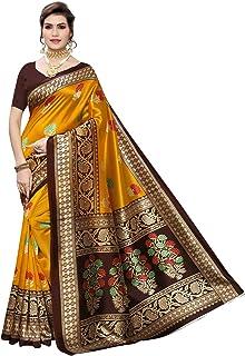 Satrani Art Silk Saree with Blouse Piece