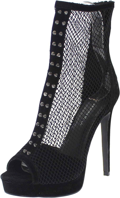 shoes Republic LA Platform Fishnet Bootie w Spikes Mygal
