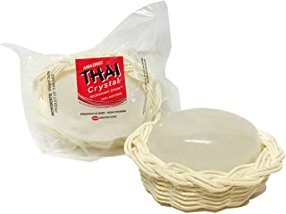 Thai Crystal Deodorant Stone in Decorative Basket, Unscented, 3.5 Ounce