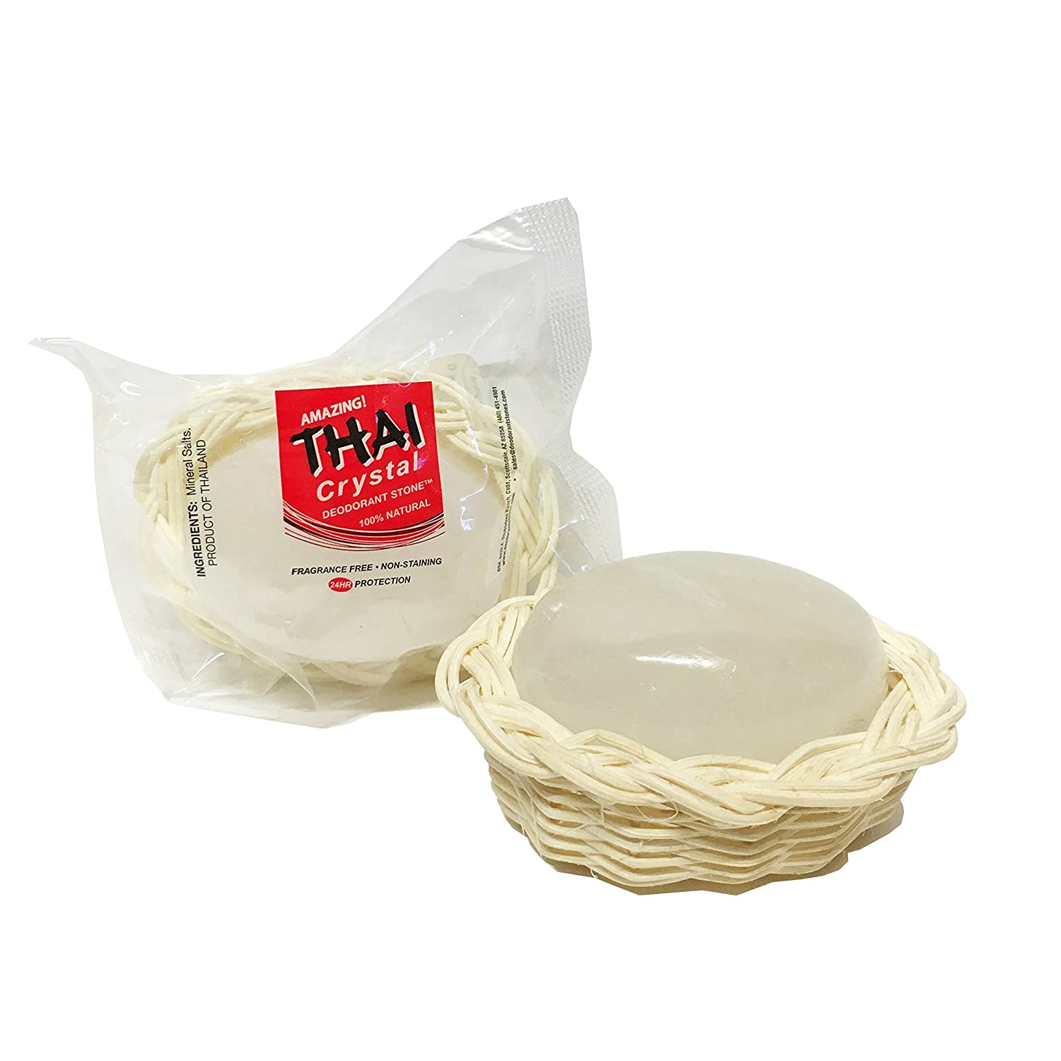Thai Crystal Deodorant Stone in Unscented free Basket Decorative 3. Choice