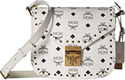 MCM - Patricia Studded Outline Visetos Small Shoulder