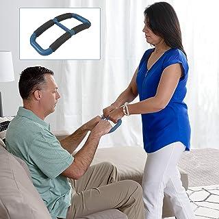 Able Life Universal Standing Handle Plus to Transfer Senior, Elderly, Bariatric, or Handicap Patient, Assists Caregiver, Nurse, or Therapist, Replacement for Gait Belt - Blue