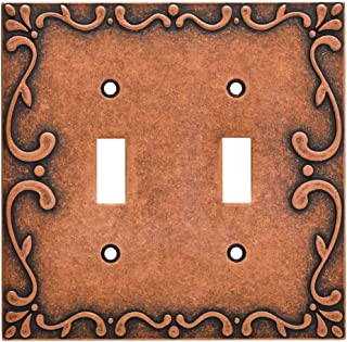 Franklin Brass W35073-CPS-C Classic Lace Double Switch Wall Plate/Switch Plate/Cover, Sponged Copper