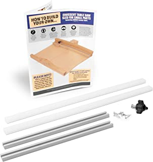 Fulton DIY Table Saw Crosscut Sled Kit with 2 UHMW Bars 2 Aluminum Tracks 1 Knob and 1 Bolt along with Full Color HOW TO B...