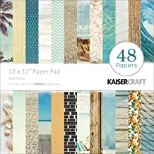 Kaisercraft Paper Pad, 12 by 12-Inch, Sandy Toes Salty Kisses, 48-Pack