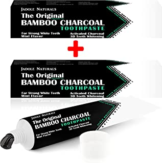 Jadole Naturals' The Original Bamboo Charcoal Toothpaste Deep Clean with Activated Charcoal buy 1 get 1 free