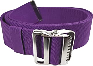 """LiftAid Walking Gait Belt and Patient Transfer with Metal Buckle and Belt Loop Holder for Nurse, Caregiver, Physical Therapist (Purple, 60"""")"""
