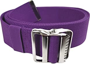 LiftAid Walking Gait Belt and Patient Transfer with Metal Buckle and Belt Loop Holder for Nurse, Caregiver, Physical Therapist (Purple, 60