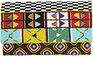 MyBatua Kennedy Multicolor wulstige Handtasche Geometrische Box Design ACP-478