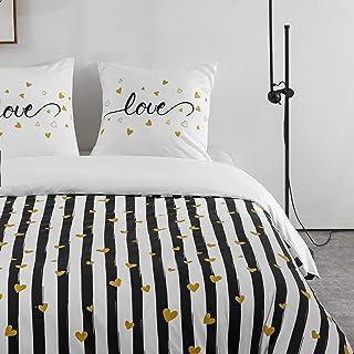 Sets de Housse de Couettes 220x240cm + 2 taies d'oreillers 65x65cm Parure de Lit Imprimé Multicolore pour 2 Personnes Motif 5
