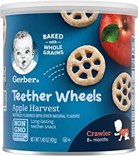 Gerber Teether Wheels, Apple Harvest, 1.48 Ounce (Pack of 6)