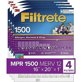 Pet Dander Trophy Air 16x20x1 Monarch HVAC Furnace Air Filter REPLACEMENT media Virus Carriers Eliminates Allergies Pollen MICRO ALLERGEN MERV 11 Bacteria /& More Smoke