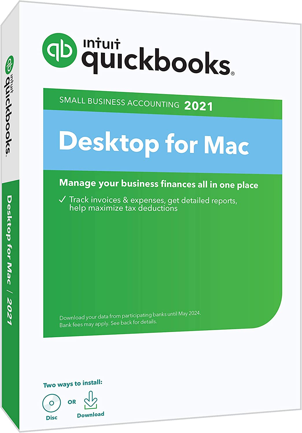 QuickBooks Desktop for Mac 2021 Accounting Software for Small Business with Shortcut Guide [Mac Disc]