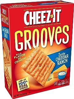 Cheez-ItGrooves Crispy Cheese Cracker Chips, Zesty Cheddar Ranch, 9 oz Box