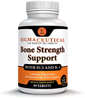 Bone Strength Calcium Magnesium Supplement - Bone Health Boron Supplement - Calcium Citrate w/ Vitamin D3 - Calcium Carbon...