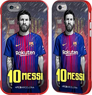 Official FC Barcelona Lionel Messi 2017/18 First Team Group 1 Red Fender Case Compatible for iPhone 6 / iPhone 6s
