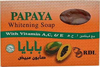 RDL Papaya Whitening Soap Sunscreen with Vitamin A,C and E For Lightening, 135g