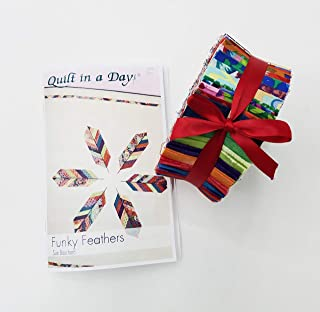 Quilt in a Day Funky Feathers Quilt Pattern Bundled with One Funky Feathers 2.5