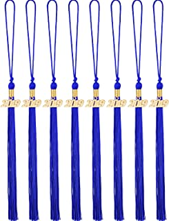 Yaomiao 8 Pieces Graduation Tassel Graduation Cap Tassel with 2019 Year Charm for Graduation Parties, 9.4 Inches (Navy Blue)