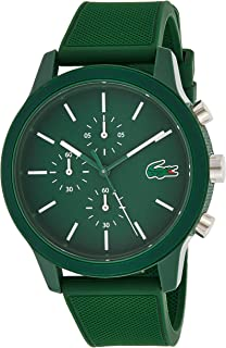 Lacoste 2010973 Silicone Contrast Markers Round Analog Watch for Men - Green