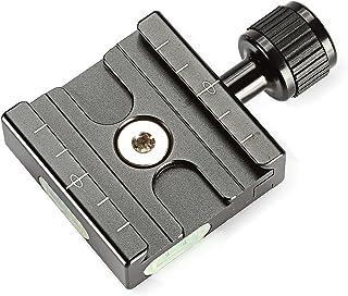 NEEWER アルミ50mmのクイックリリースプレートQRクランプ3/8インチ、1/4インチアダプターと内蔵バブルレベル【並行輸入品】