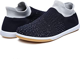 Unistar Knitted Upper Rubber Sole Men's Outdoor Casual Sneakers/Walking Shoes