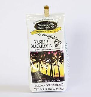 Hawaiian Isles Kona Coffee Co. Kona Vanilla Macadamia Nut Ground Coffee, Medium Roast, 8 ounce bag
