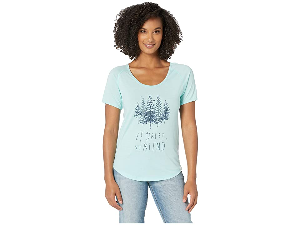 tentree Forest Tee (Blue Tint) Women