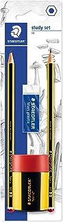 Staedtler 120 511Bkdst Set Scuola Study Set, Comprendente 2 Matite Noris Hb, Una Gomma Mars Plastic e Un Temperamatite Nor...