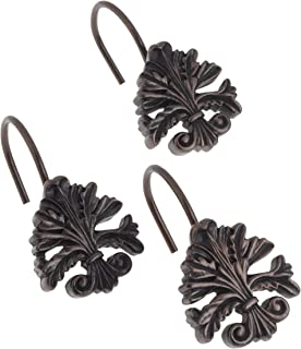 Carnation Home Fashions PHP-FL/67 Fleur dis Lis S/C Hooks in Oil Rubbed Bronze, Set of 12