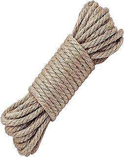 BDSMAGE Hanfseil,Jute Seil,Hanfschnur Seile - 4mm,8mm,10mm Dicke und Starke Jutekordel,Mehrzweck Utility Hanf Twine Seil 32ft 10m