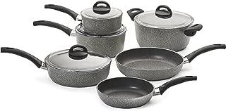 Ballarini 75001-652 Parma Forged Aluminum Nonstick Cookware Set, 10-piece, Granite