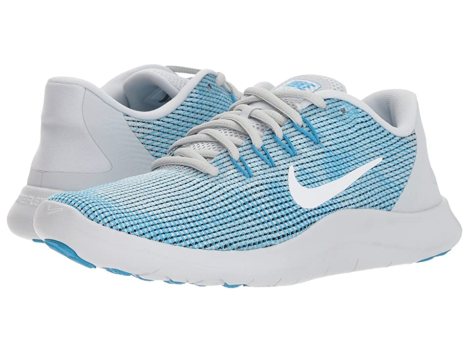 Nike Flex RN 2018 (Pure Platinum/White/Equator Blue) Women