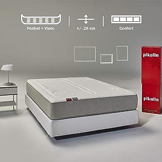 Pikolin Veza, colchón de muelles ensacados y viscoelástica premium, 90x190, firmeza media-alta, colchones confort y calidad máxima