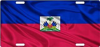 Fast Service Designs Haiti Flag Custom License Plate Haitian Creole Emblem Version # 1