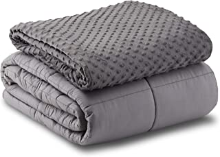Leniio Weighted Blanket with Duvet Cover - (15 lbs, 60