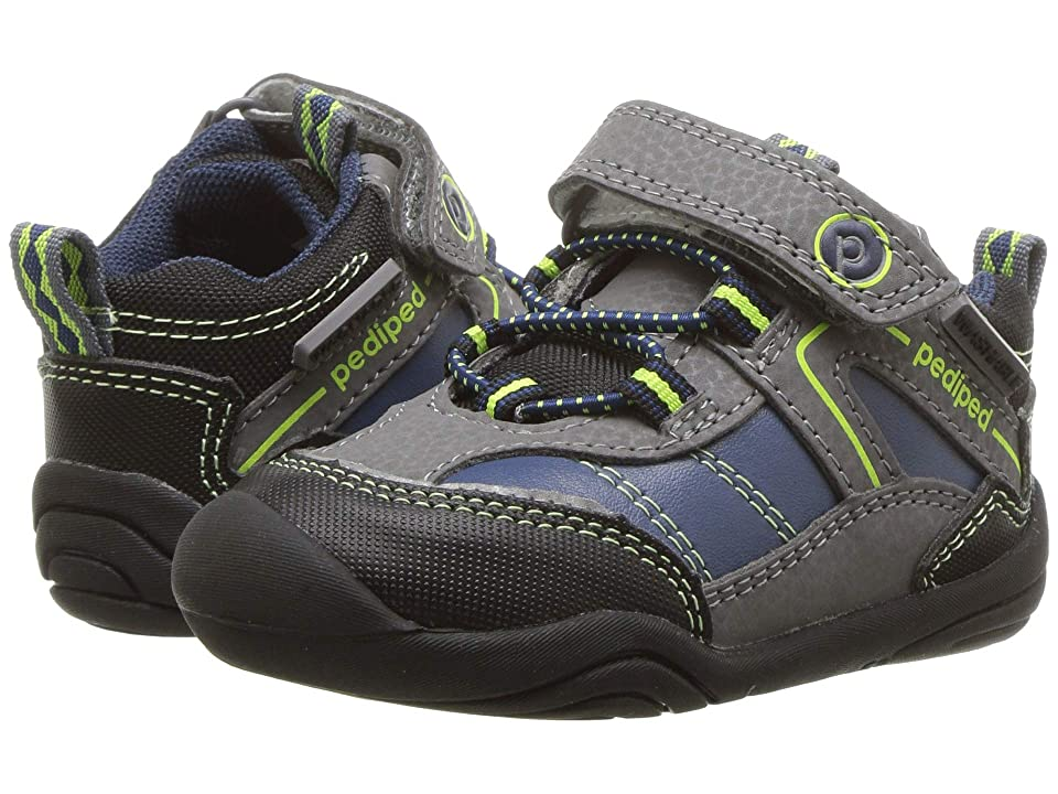 pediped Max Grip n Go (Toddler) (Navy/Lime) Boy