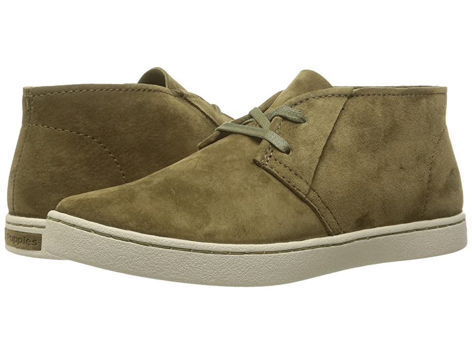 Hush Puppies Cille Gwen (Dark Olive Suede) Women
