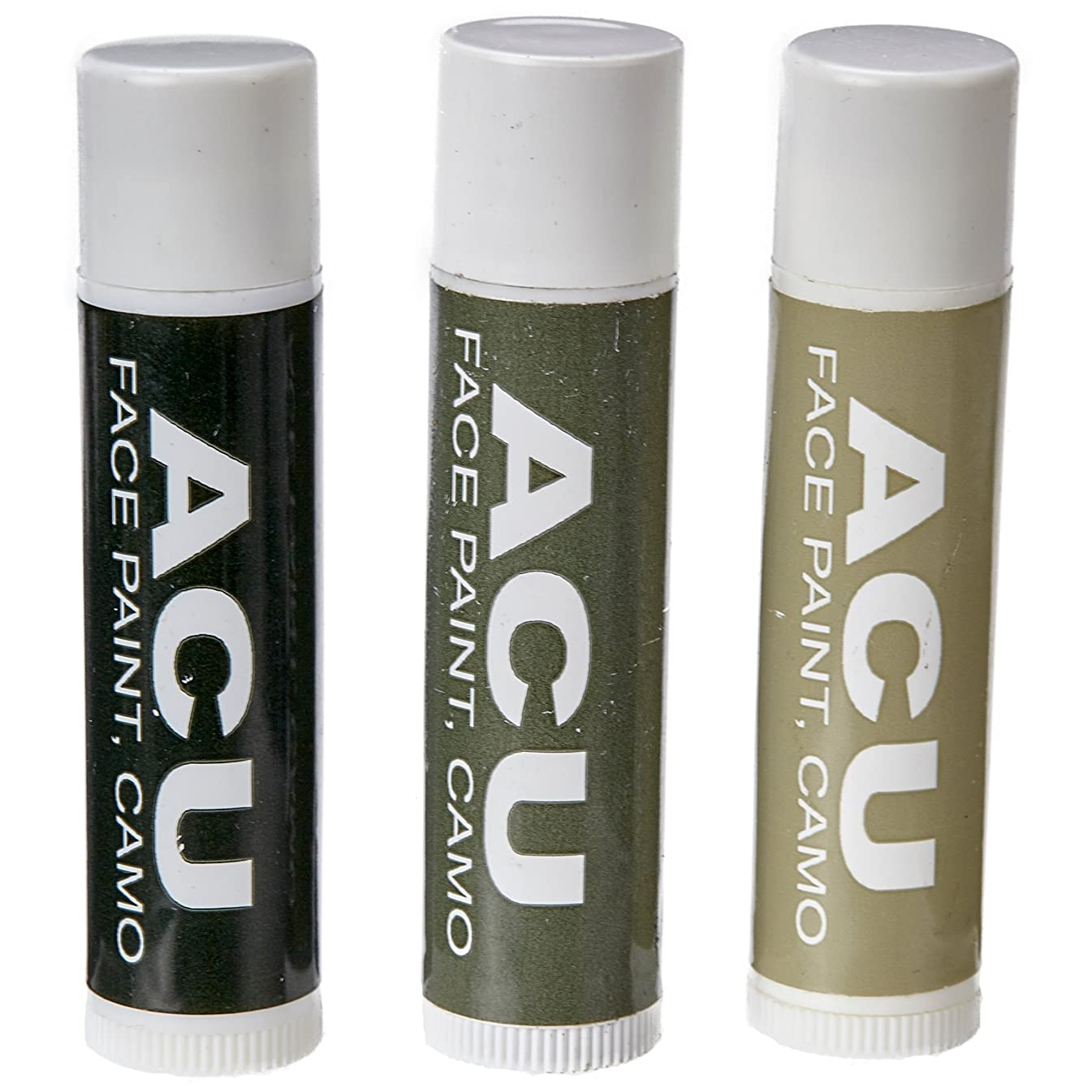 Bobby Weiner Camo Face Paint - Authentic US Army Camouflage Portable Costume Makeup - Hypoallergenic, Nontoxic, Odorless - Easy Wash Off - 3 x 0.15oz Sticks