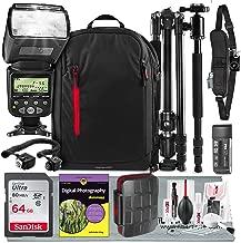 Digital Photography for Dummies Premium Bundle w/i-TTL AF Power Zoom Flash, Professional Sturdy Tripod, 64GB, Much More for Nikon DSLRs D810 D750 D500 D7200 D5600 D3400 D3300