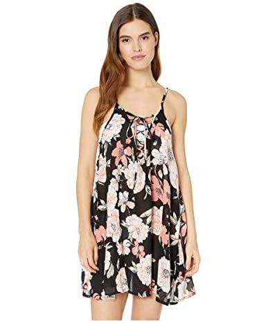 Roxy Softly Love Printed Dress Cover-Up (Anthracite New Flowers) Women