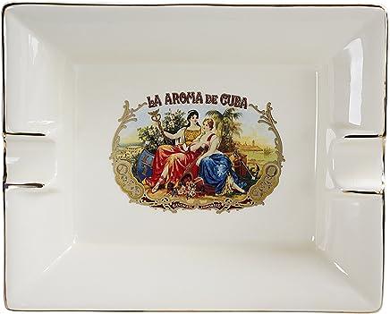 94be6f4558b Ashton White Cream Ceramic La Aroma De Cuba Cigar Ashtray