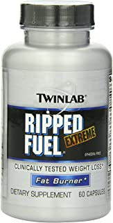 Twinlab Ripped Fuel 60 Capsules | Dietary Supplement for Weight Loss, Enhance Lean Muscle Mass.
