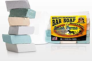 Amish Farms Handmade Bar Soap, Natural Ingredients, Cold Pressed, Carcinogen Free, 6 Ounce (12 Bars)